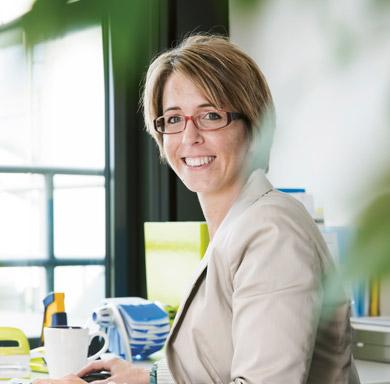 Soennecken Mitarbeiterin Melanie Scheunert.