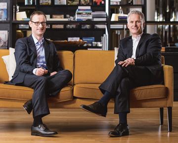 Die Vorstände der Soennecken eG: Dr. Rainer Barth und Dr. Benedikt Erdmann